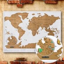 ROWBOE rascar el mapa de la decoración de la Oficina inglés Retro Mapa de la pared de la edición del mundo Mapa de viaje puede rascar el cartel vintage