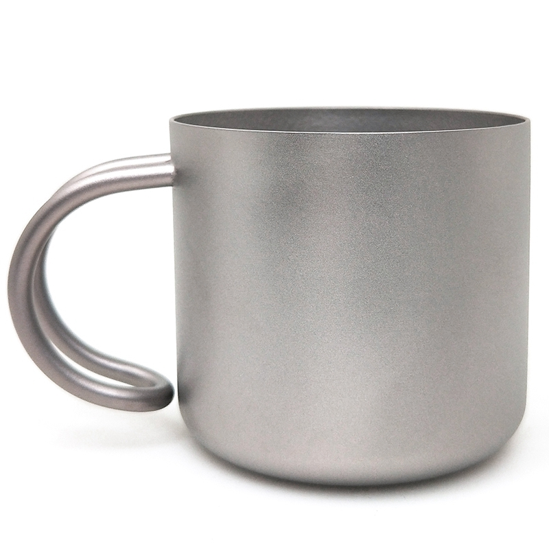 1Pcs Coffee Cup Reusable Coffee Cup Travel Coffee Cup Titanium Coffee Cup Double Coffee Cup