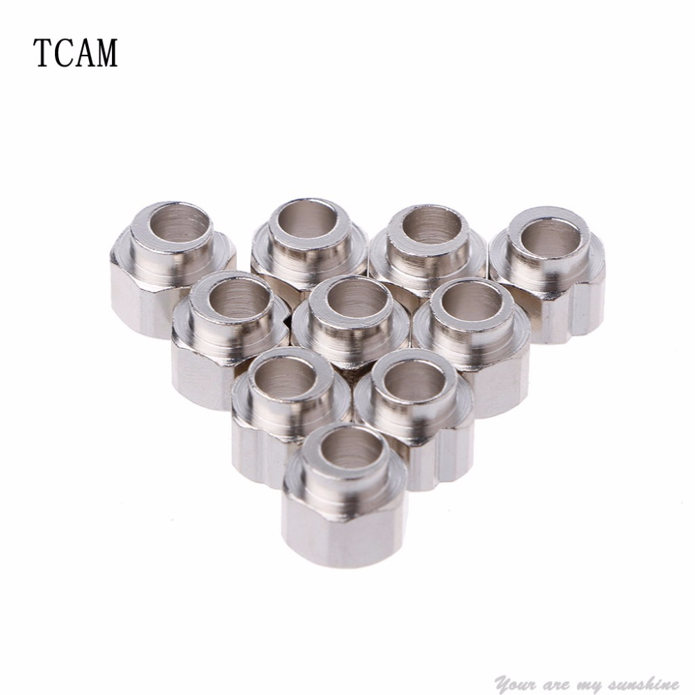 TCAM 10Pcs Stainless Steel 3D Printer Eccentric Column Hexagonal 5mm Bore 6mm Height V Groove
