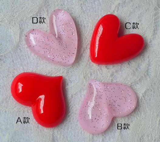 (4 pieces / set , 2 lot)Cute Love heart-shaped refrigerator stickers fridge magnet