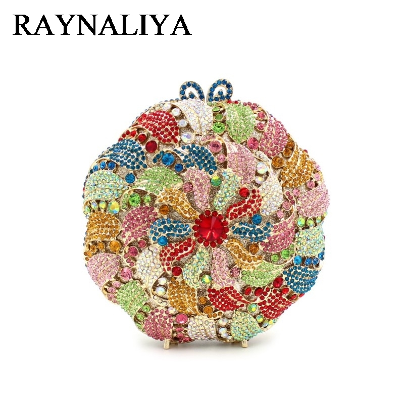 Flower Crystal Women Evening Bag Hollow Out Day Clutches Metal Rhinestone Clutch Party Handbag Bridal Wedding Purse ZH-A0276 day clutches elegant lady messenger bags for women clutch evening bag casual party purse beaded wedding handbag zh b0321