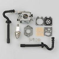 Carburetor Carb Fuel Line Rebuild Kit Spark Plug For STIHL MS230 MS250 023 025