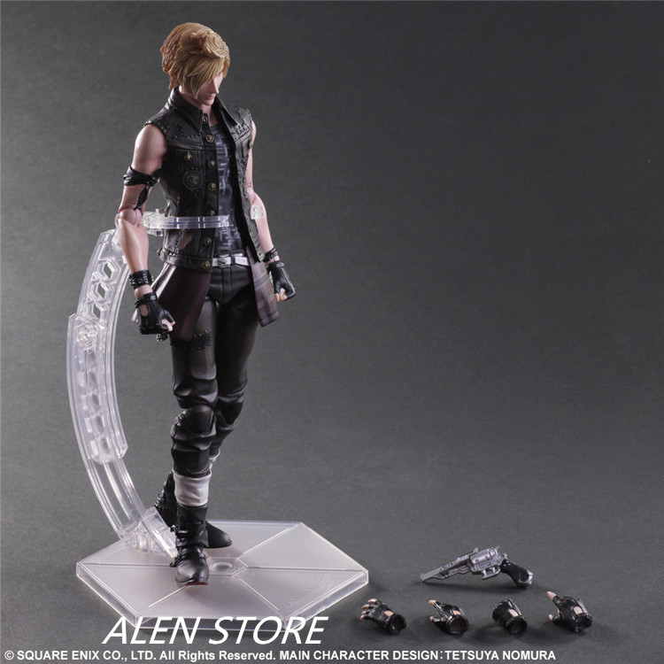 ALEN XV ff15 FFXV Final Fantasy PA Claude Knight Prompto Argentum Play Arts Kai Cloud Strife Collection Model PVC 25cm xv vii ff15 sephiroth ffxv final fantasy pa claude knight argentum play arts kai cloud strife collection model pvc 25cm figures