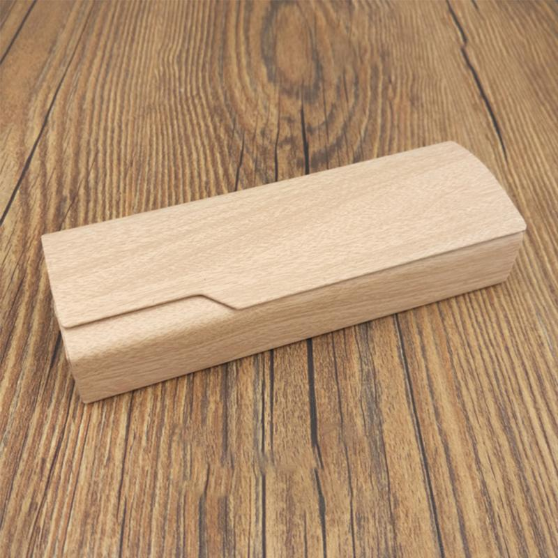 New Portable Imitation Wood Grain Sunglass Box Hard Glasses Case Spectacles Holder Eye Reading Handmade Box #919