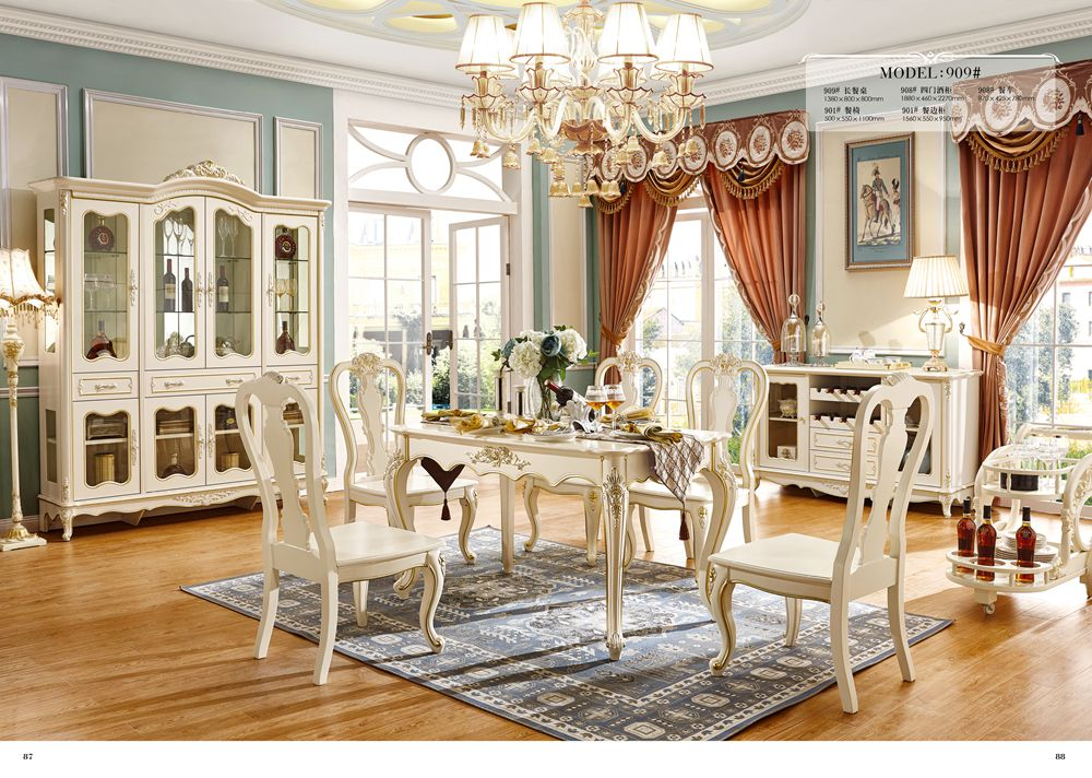 2017 Limited Oak Furniture High Quality Fashion Home Solid Wood Dining Room  Table Furniture Set With Low Price