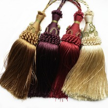 2016 High Quality Euro Style Decorative Key Tassel Drops Sofa Chair Cover Fringe Curtain Valance Trimming 27.5 cm Length