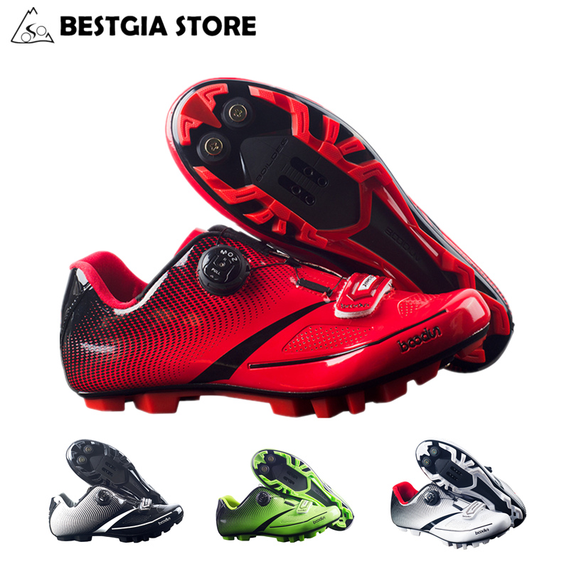 New Boodun Mens Breathable Cycling Shoes Mountain Bicycle Racing Shoes Self-Locking Bike MTB Shoes Sapatilha Zapatillas Ciclismo купить
