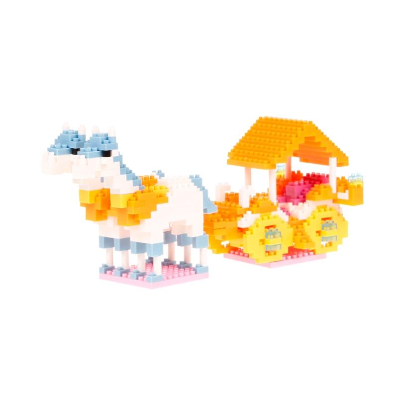 Djevojke Blok Pink Pink Plava Villa Princess Prijevoz Ljubičasta - Izgradnja igračke - Foto 4