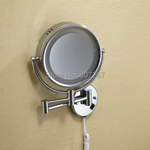 Circle Espelho Mirror Wall Bathroom Magnifying With Light 8 Inch Free Shipping Whole Makeup Xdl 5229 In Mirrors From Beauty