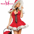 Plush Bubble Dress Red bubble skirt Santas Costume Clothing Women Cosplays costumes Christmas party dress sexy white Fur costume