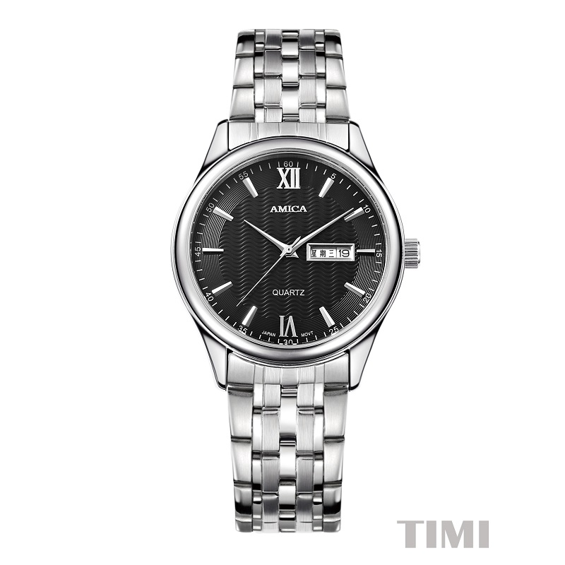 AMICA Quartz WristWatches 2018 New Fashion Wave Surface Mens Watch Lover's Watches A8 часы amica