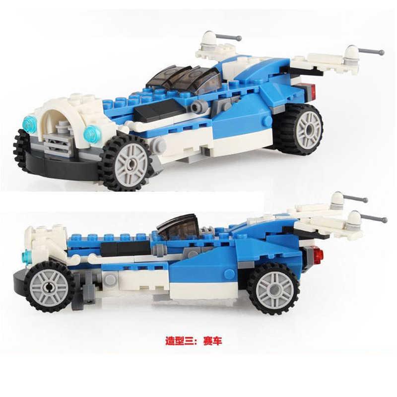 Alta Technic 3 in 1 Robot Car Racing Aeromobili Modello Navicella 3D building Blocks Bambini Giocattoli Regalo