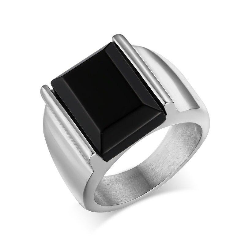 Для Мужчинs Для мужчин S из нержавеющей стали с черным циркон кольцо золотое покрытие кольцо для мужской модный человек ювелирные изделия о...