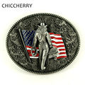 Cool Male Accessories Vintage Floral American Flag Belt Buckles Metal Western Country Cowboy Boucle De Ceinture Fivela Vaqueiro