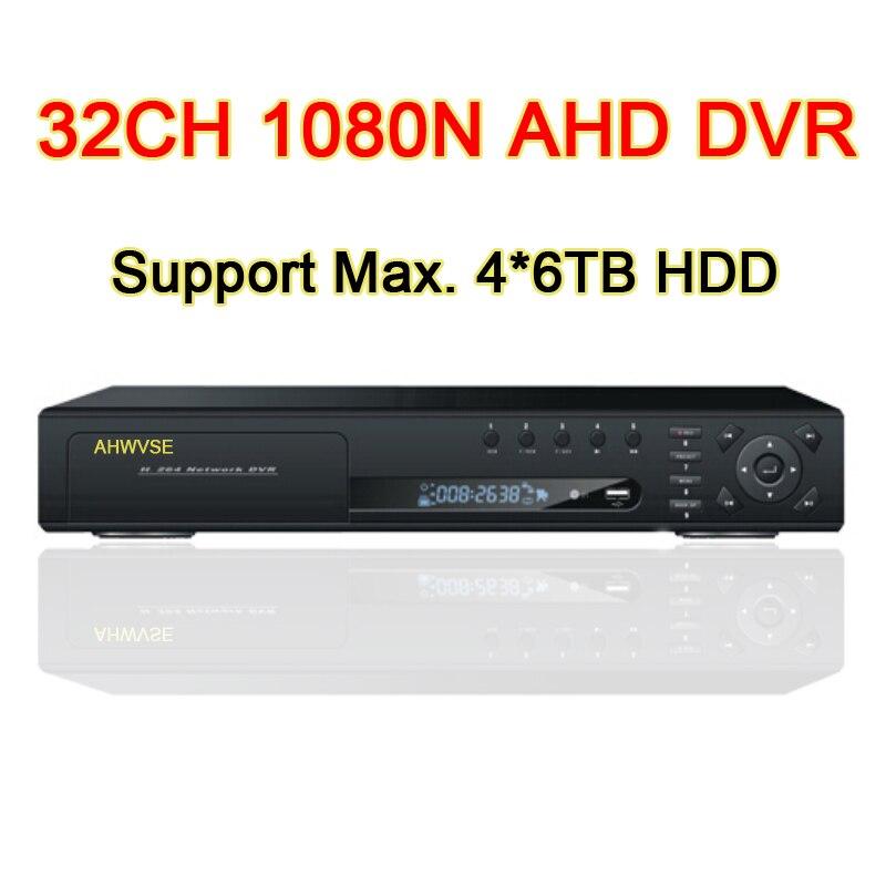 32CH 1080N CCTV Camera AHD DVR 32 Channel 4 SATA 6 in 1 1080N Hybrid Coaxial Onvif XMEYE APP IP 1080P XVI NVR TVI CVI AHD DVR gadinan 8ch ahdnh 1080n dvr analog ip ahd tvi cvi 5 in 1 dvr 4ch analog 1080p support 8 channel ahd 1080n 4ch 1080p playback