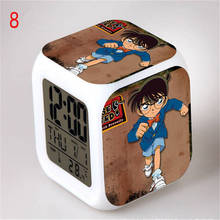 Japanese Anime Detective CONAN LED Glowing Digital Desktop Alarm Kids Despertador Digital Infantile Toys Temperature Display