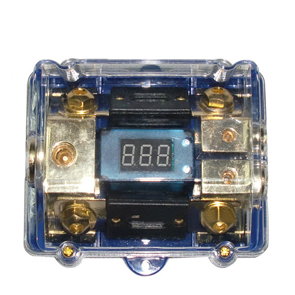Car Fuse Box 100a 1 Input 2 Output With Voltage Display