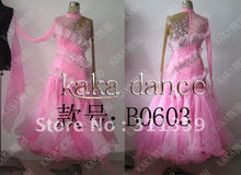 Free shipping 100% New Competition ballroom Standard dance dress,dance clothing,stage wear,ballom dance wear-B0603