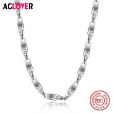 Sterling Silver 925 Chain Necklace Mens And Womens Glamour Fashion 50cm Christmas Jewelry