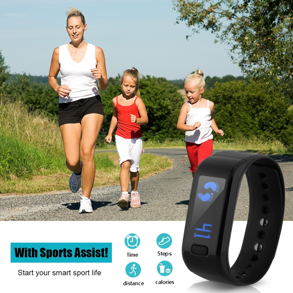 Excelvan Moving Up Smartband Pedometer Bracelet Waterproof Bluetooth Smart bracelet Health Monitor Smartband Fitness Tracker