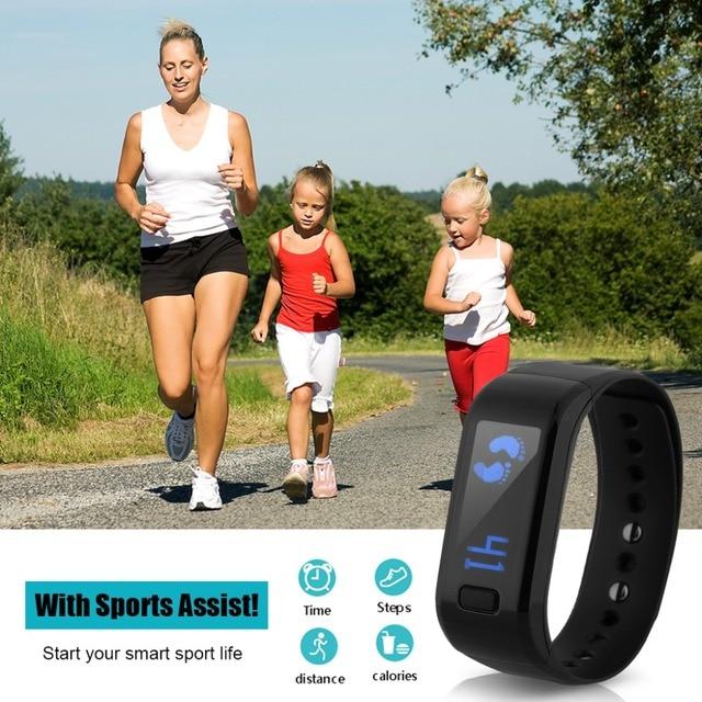 Excelvan Smart Watch Pedometer Bracelet IP67 Waterproof Bluetooth Health Wristband Sleep Monitor Smart Wristband Fitness Tracker