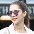 2016 Новый Французский Бренд Металл Солнцезащитные Очки Женщина Мужчина Тенденции Очки Солнцезащитные Очки Женщина Мужчина Зеркало Старинные Óculos UV400