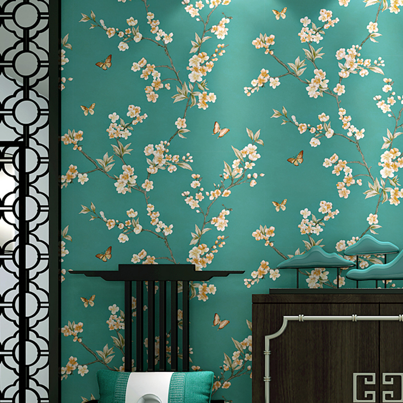 Exquisite Wall Coverings From China: Aliexpress.com : Buy Chinese Style Pastoral Wallpaper 3D