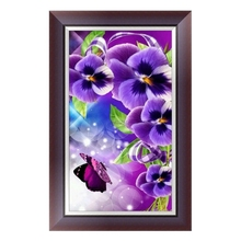Fashion Design DIY 5D Diamond Embroidery Orchid Rhinestone Painting Cross Stitch Decor Gift  jul31