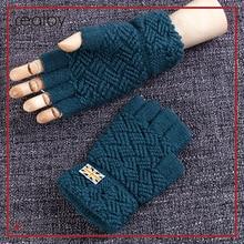 REALBY I LOVE United Kingdom Men's Winter Fingerless Gloves 5 Colors Wrist Luvas Hand Warmer Mittens Guantes Gloves sin dedos