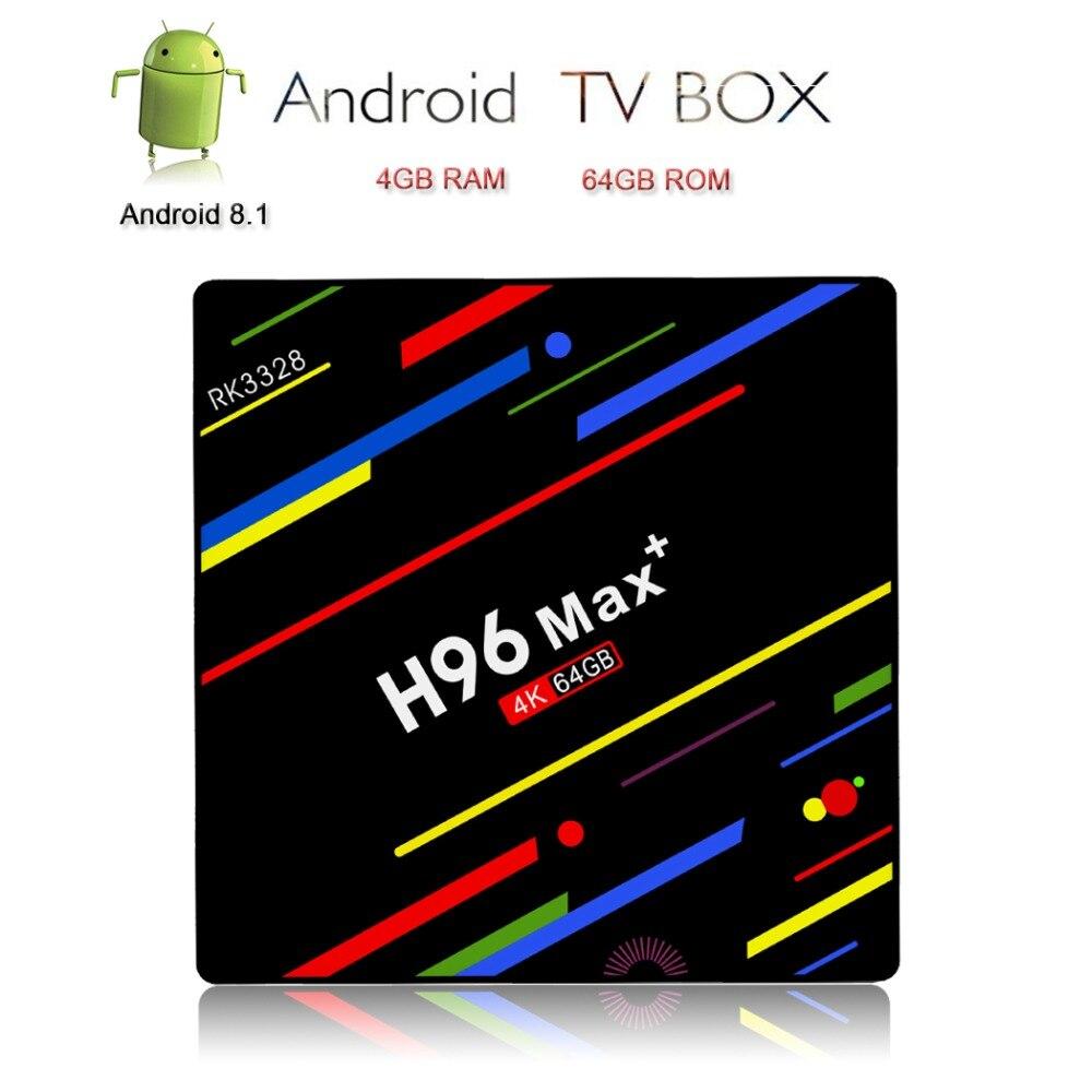 H96 Max Plus Android 8 1 TV Box Smart TV 4K IPTV Set Top Box 4G