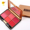 MISS ROSE Brand Bronzer Blush Pallete Makeup Baked Cheek Color Mineralize Blusher Powder Face Blushes 6 color
