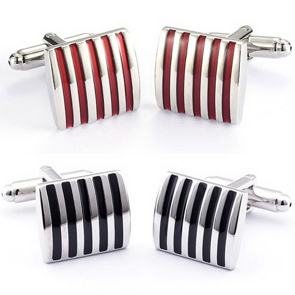 1pair Black/Red Cufflinks For Men Jewelry High Quality Hot ...