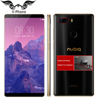 2017 New Original ZTE Nubia Z17S Z17 Mobile Phone With 4 Cameras 2040x1080 Full Screen 8GB
