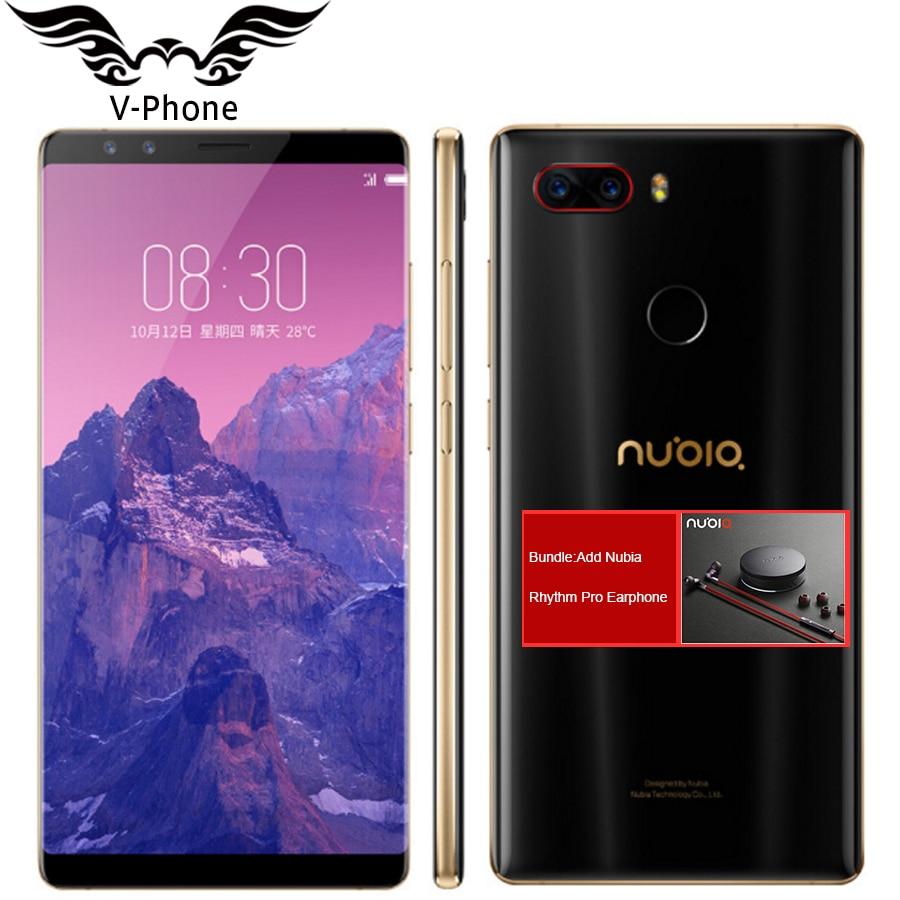 2017 Nuovo Originale ZTE Nubia Z17S z17 Telefono Cellulare Con 4 camera 2040x1080 Pieno Schermo 8 GB RAM 128 GB Telefono ROM Snapdragon 835