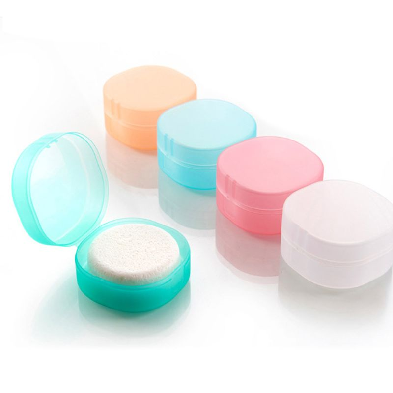 Portable Soap Case Holder Dish Plate Round Sealing Box Container With Lid For Travel Hiking Camping Kitchen Home Bathroom Shower