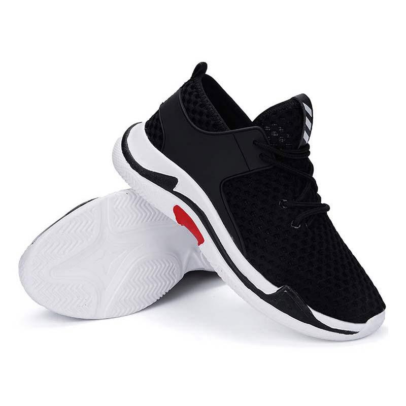 bb5054f705a65 D'été Occasionnels Chaussures Sneakers 2018 Noir blanc rouge Chaussure  Femme Marche Pour Maille Femmes Respirante Course ...