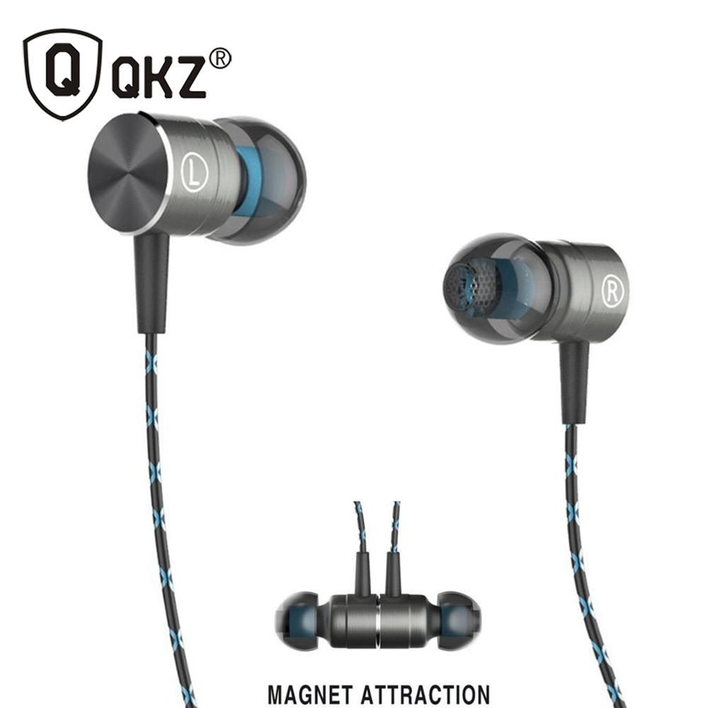 QKZ X41M Magnetic Earphones HIFI Fever in-ear Earphone Transient HeadSet Heavy low quality earbuds Virulent Vocals original plextone x41m in ear hifi fever stereo earphone magnetic heavy metal low bass headset earbuds with mic for mobile phone