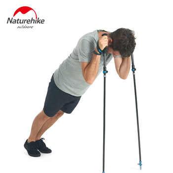 Naturehike Folding 34cm Poles Ultralight Foldable Adjustable Trekking Carbon Fiber Walking Hiking Stick for Women Men 98-135cm - DISCOUNT ITEM  51% OFF Sports & Entertainment