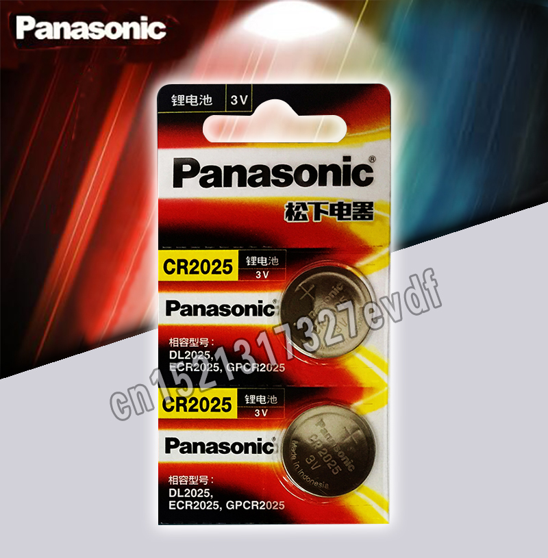 Panasonic Original Cr2025 Button Cell Batteries 2PCS/LOT Cr 2025 3V Lithium Coin Battery For Watch Calculator Weight Scale