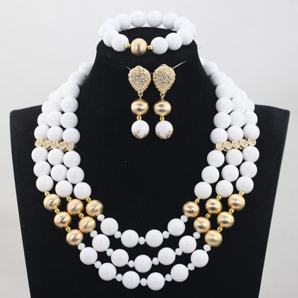 2017 Trendy White Coral Jewellery Set Charming White Round Beaded African Bridal Jewelry Sets for Women Free Shipping  ABH2442017 Trendy White Coral Jewellery Set Charming White Round Beaded African Bridal Jewelry Sets for Women Free Shipping  ABH244