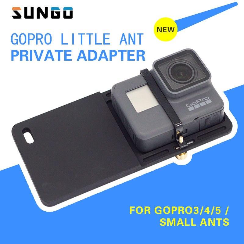 Lisse Q D'action Caméra Adaptateur pour GoPro 6/5/4, SJCAM, xiaoyi, Commutateur Montage Plaque pour Zhiyun Lisse 4 DJI Ocmo Feiyu Vimble 2 G6