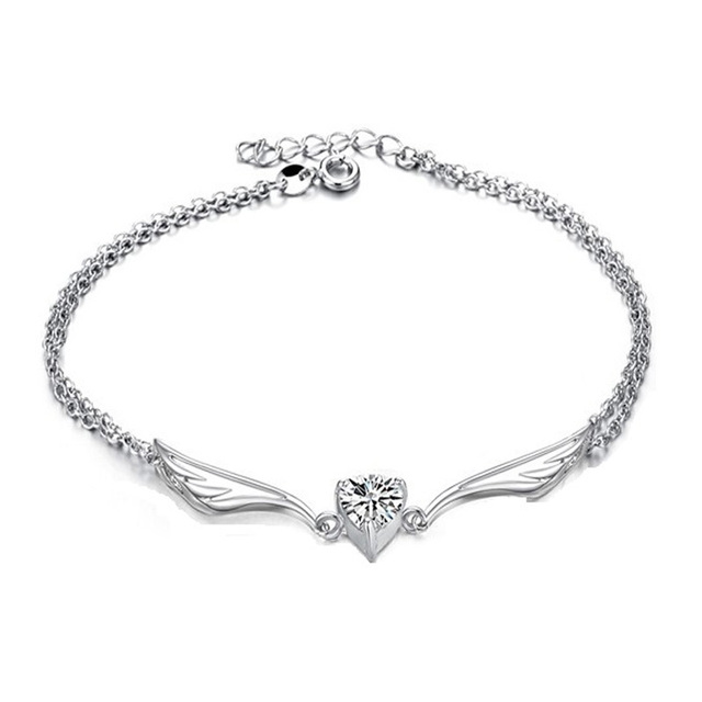 heart plated product rose bracelet sterling silver ctw anklet bolo diamond gold