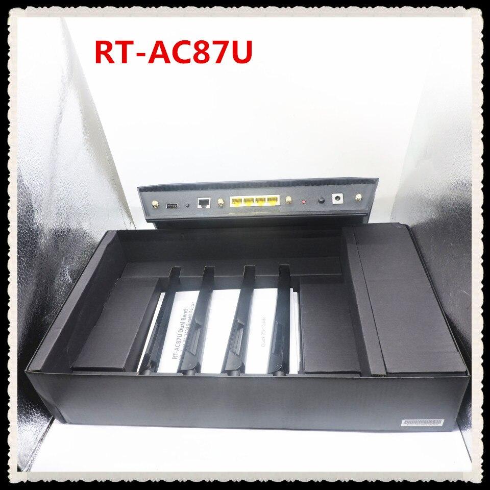 D'origine Parfait travail pour RT-AC87U 802.11 AC2400Mbps Dual Band Gigabit Routeur Sans Fil WiFi Routeur avec 4x4 MU-MIMO Antenne