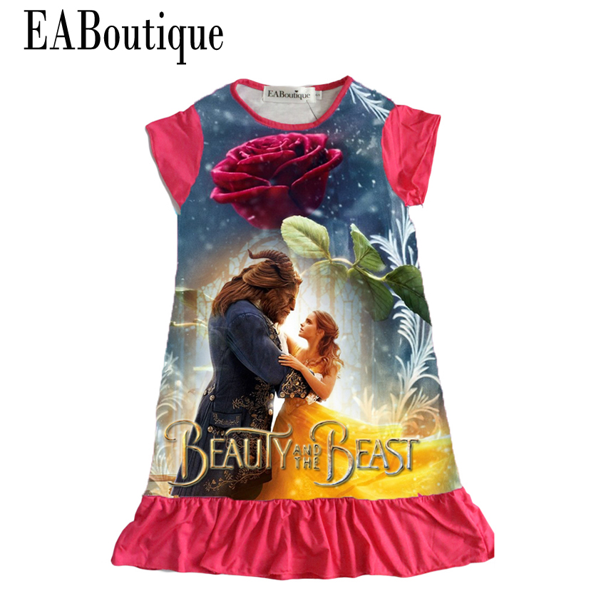 EABoutique cotton cloth women gown cartoon princess Moana Trolls double printed ruffles type children clothes for 4-10 yr outdated women gown, children clothes, princess type,Low-cost women gown,Excessive High quality...