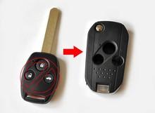 цена на Modified Flip Folding Remote Key Shell Case 3 Buttons For Honda Fit Accord Odyssey Civic City CRV FOB Key Blanks