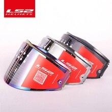 LS2 Valiant font b helmet b font visor rainbow shield smoke colorful silver lens only for