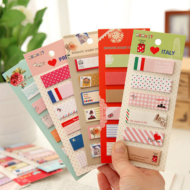 10 Pcs Lot Cartoon Animal Sticky Notes Set Decorative Memo Pad Vintage Stationery Office Supplies