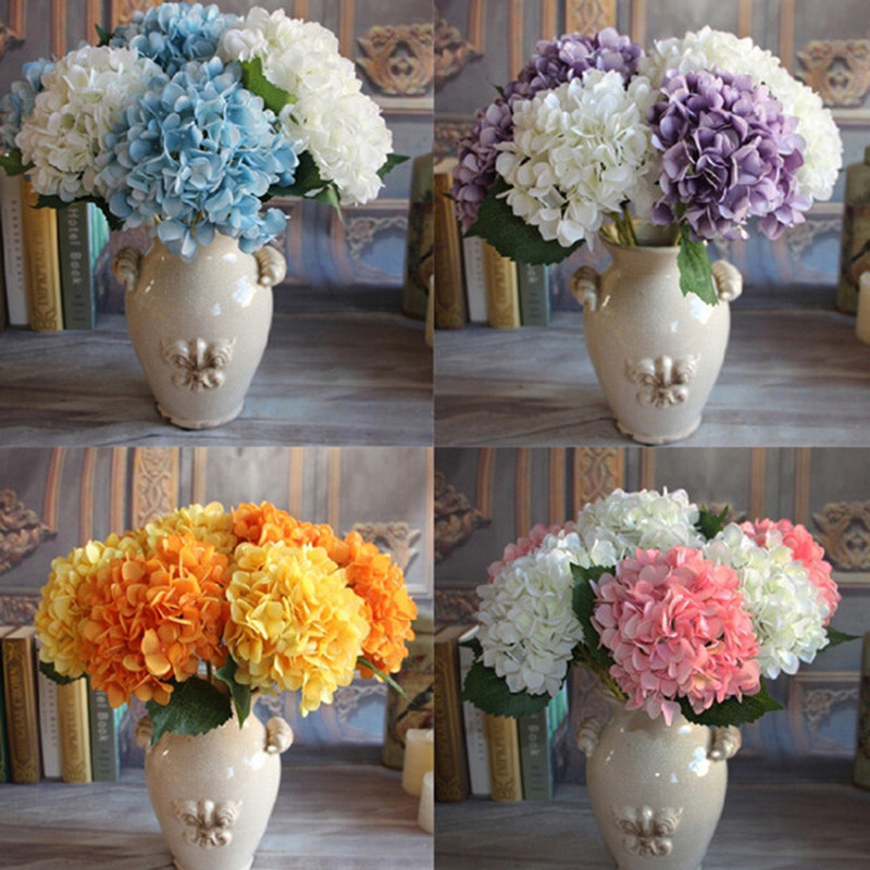 New 1pcs Silk Flower Large Hydrangea Wedding Decorative Artificial - Which-artificial-flower-colors-are-good-for-a-home