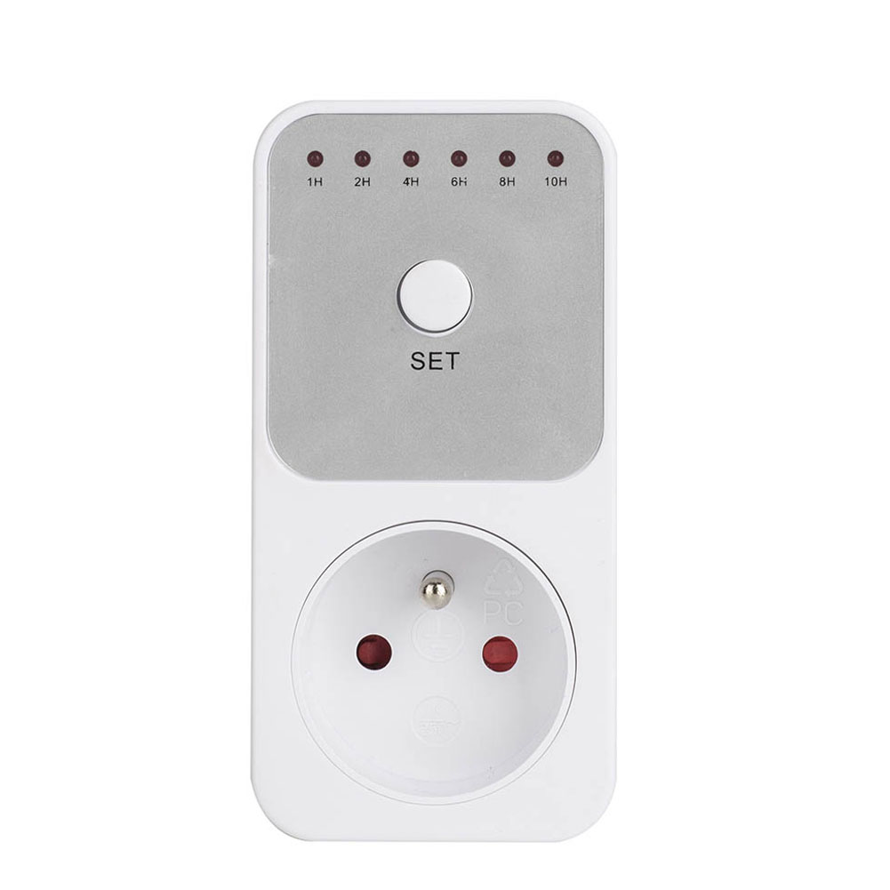 Newest 1-10 Hours Indoor Countdown Timer Outlet with Grounded Pin Energy Saving US/EU/UK/AU Plug eu us uk au plug outlet