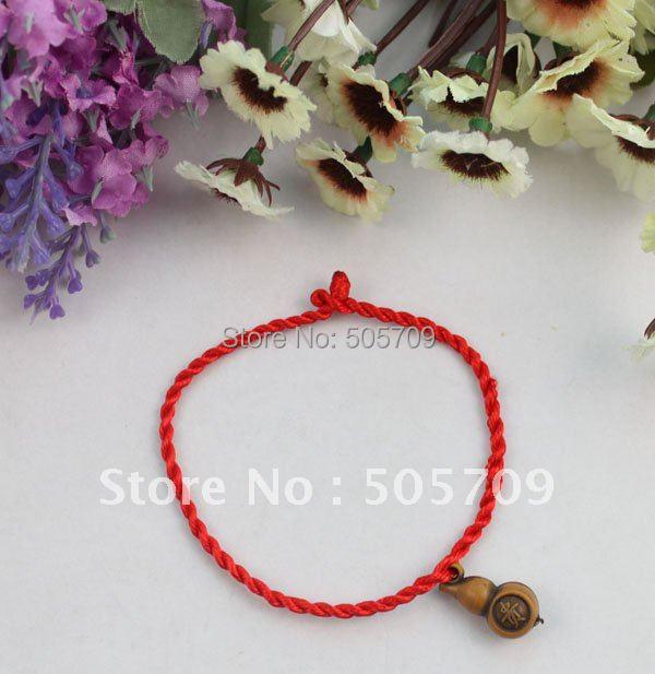 ⑧48 unids chino riqueza calabash red Lucky pulseras envío libre ...